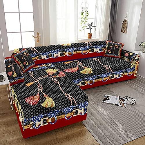 WXQY Coolazy Stretch Plaid Sofa Fundas de sofá elásticas para Sala de Estar Sofá Silla Funda de sofá Decoración para el hogar A4 2 plazas