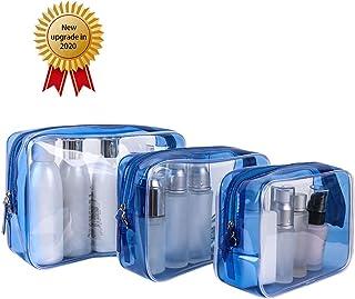 Travel Cosmetic Bag Transparent Storage Bag, Portable 3-piece Toilet Bag NW 1776
