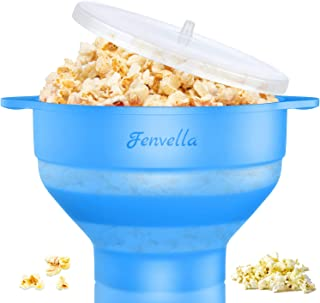 Microwave Silicone Popcorn Popper, Fenvella Collapsible Hot Air Microwavable Popcorn Maker BPA Free & Dishwasher Safe, Pop...