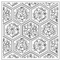 friendsty クリアスタンプ、花の背景DIYシリコンクリアスタンプシールスクラップブックエンボスアルバムの装飾