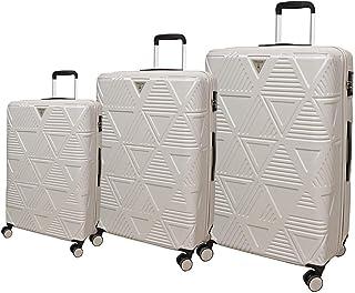 Track Luggage Trolley Bags 3 Pcs Set, Beige