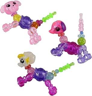 Curious Minds Busy Bags 3 Twist Animal Pet Bracelet - Sensory Fidget Toy - Bead Animal That Turns into a Bracelet - Jewelry (Random Animals)
