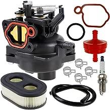 HUZTL 799584 Carburetor Kit with Air Filter Fuel Spark Plug for Briggs & Stratton 550EX 625EX 675EX 725EXI 140CC 09P702-0098-F1 09P702-0145-F1 Engines Troy-Bilt TB110 Carb