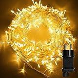 Luces de Hadas, 23M 200 LED Cadena de Luces con Enchufe, Guirnalda Luces IP44 Impermeable con 8 Modos, Guirnaldas Luminosas Decorativas para Exterior y Interior, Navidad, Jardín, Casas, Boda, Fiestas