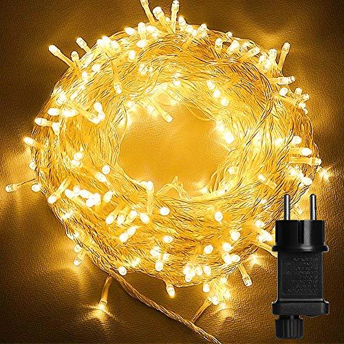 Guirlandes Lumineuse Exterieur, 23M Guirlande 200 LED 8 Modes IP44 Fairy Lights Fil de Cuivre Décoration Lumière, pour Intérieur et Extérieur Décoration Noël Mariage Jardin