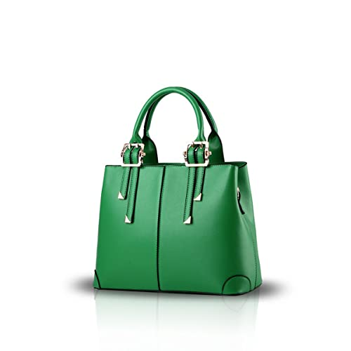 8a6c1f8e976 Green Leather Handbag: Amazon.co.uk