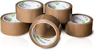 V1 Trade - Ruban Adhesif Emballage - Marron Duck Tape - Scotch Carton Demenagement 48 mm x 66 m (48 mm x 66 m (6 Stück))