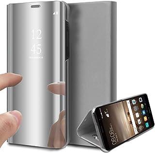 Suhctup Kompatibel Huawei P30 Lite fodral spegel skydd klar visning kristall fodral skyddande spegel mobiltelefonfodral sk...