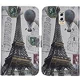 TienJueShi Eiffelturm Flip Book-Style Brief Leder Tasche Schutz Hulle Handy Hülle Abdeckung Fall Wallet Cover Etui Skin Fur M-Horse Power 2 5.5 inch