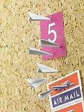 12pcs Paper Airplane Pushpin Decorative- Thumbtacks Push Pins Metal for Home Office Cork Board / Bulletin Board