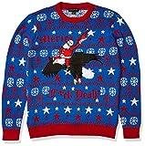 Blizzard Bay Men's Merica Santa Ugly Christmas Sweater, Red/White/Blue, Medium
