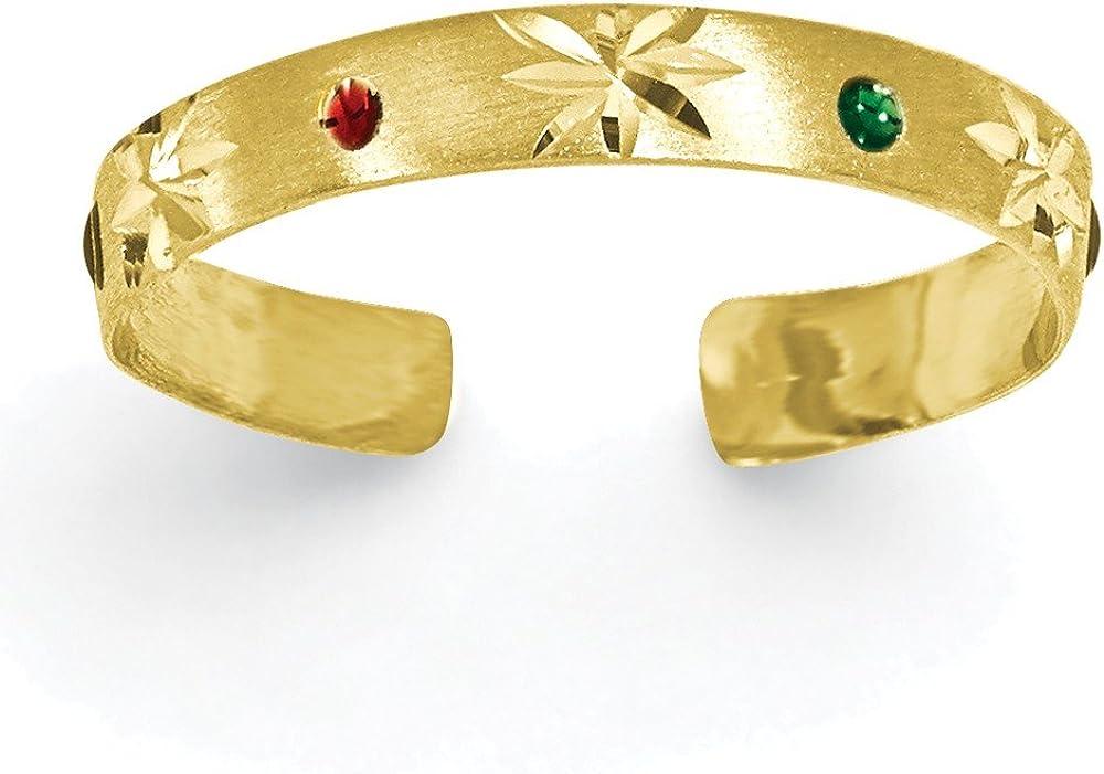 14k Enameled Toe Ring