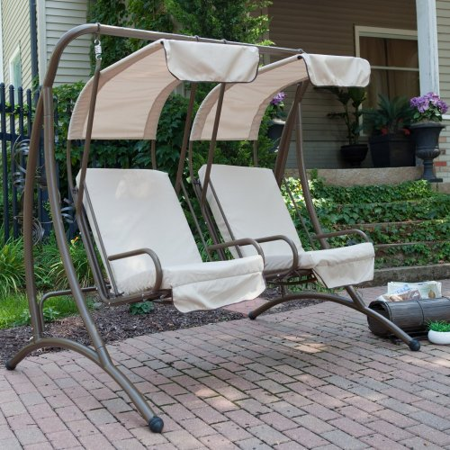 Coral Coast Two Seat Canopy Swing Chairs