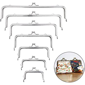 6Pcs Rectangle Resin Beads for Leather Bag Clip Bag Purse Making Metal Frame Kiss Clasp Lock for Purse Making DIY Craft 3.15x1.96