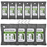 KEEOU Bamboo Charcoal Air Purifying Bags [10 Pack | Update Package] Efficient Air Purifier Odor Eliminators Natural Activated Charcoal Moisture Absorber Air Freshener for Home Closet Fridge Car