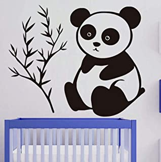 Huanxidp Wall Stickers It Only Eats Bamboo Baby Panda Wall Stickers for Kids Room Removable Vinyl Decals Lovely Wall Art H...