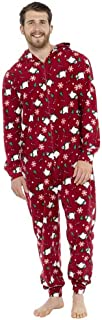 Mens Xmas Print Fleece Loungewear Nightwear Pyjamas