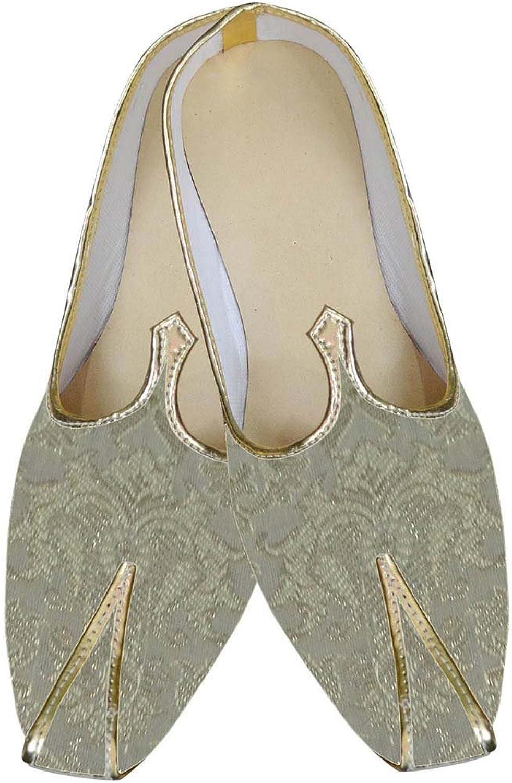 INMONARCH Mens golden Brocade Indian shoes MJ0128
