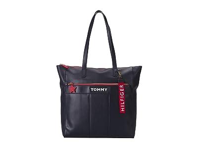 Tommy Hilfiger Peyton Tote (Navy) Handbags