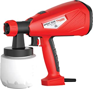HVLP 500W Advanced Hand Held Electric Spray Gun with Three Spray Patterns, Two Nozzle Sizes and 800ml Detachable Container, Paint Sprayer with Adjustable Valve Knob and Replaceable Air Filter