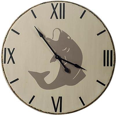 Mercana Coastal, Lakeside Wall Clock with White Finish 63174