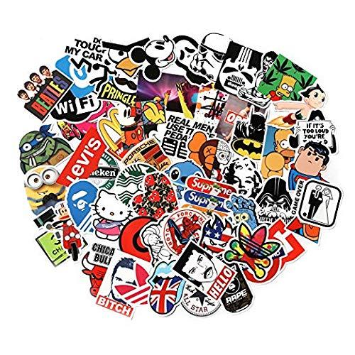 Lomire Aufkleber Pack,Vinyl-Aufkleber für Laptop, Kinder, Autos, Motorrad, Fahrrad, Skateboard Gepäck, Bumper Sticker Hippie Aufkleber Bomb wasserdicht (300Stück)