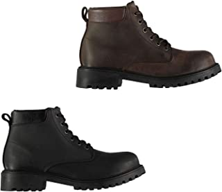 Official Brand Lee Cooper Lace Up Boots Juniors Boys Shoes Boot Kids Footwear