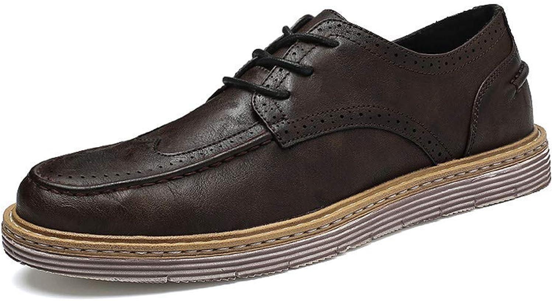 2018 Mnner handgefertigte Retro Einfachheit Outsole geschnitzt Brogue Business Oxford Casual Fashion Schuhe (Farbe   Braun, Gre   44 EU) (Farbe   Braun, Gre   44 EU)
