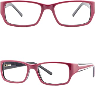 7b359f97a0e Narrow Womens Plastic Frames Spring Hinges Girls Red Pink Rectangular  Eyeglasses