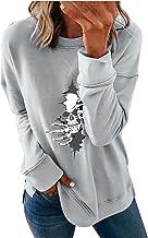 pour Sweat-shirt Veste ample col rond Halloween imprimé manches longues Tops Sweatshirt Veste Femme à capuche