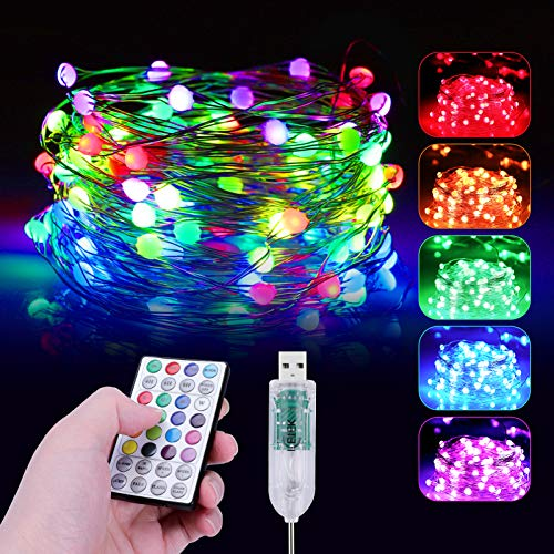 ICETEK LEDイルミネーションライト ジュエリーライト RGB16色 2020年最新版 ストリングスライト 10M 100電...
