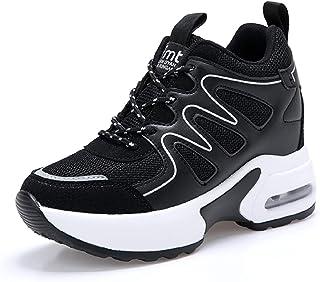 AONEGOLD Basket Femme Compensee Chaussure de Sport Gym Fitness Sneakers Basses Compensées Talon de 7 cm