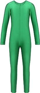 Girls Full Body Unitard Spandex Zentai Costume One-Piece Gymnastics Leotard Catsuit Dancewear Jumpsuit