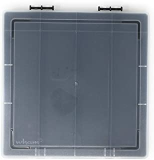 Wham 9.02 Square Storage Organiser Box with 8 Divisions, Graphite/Clear - 3H x 24.5W x 23.5D cm