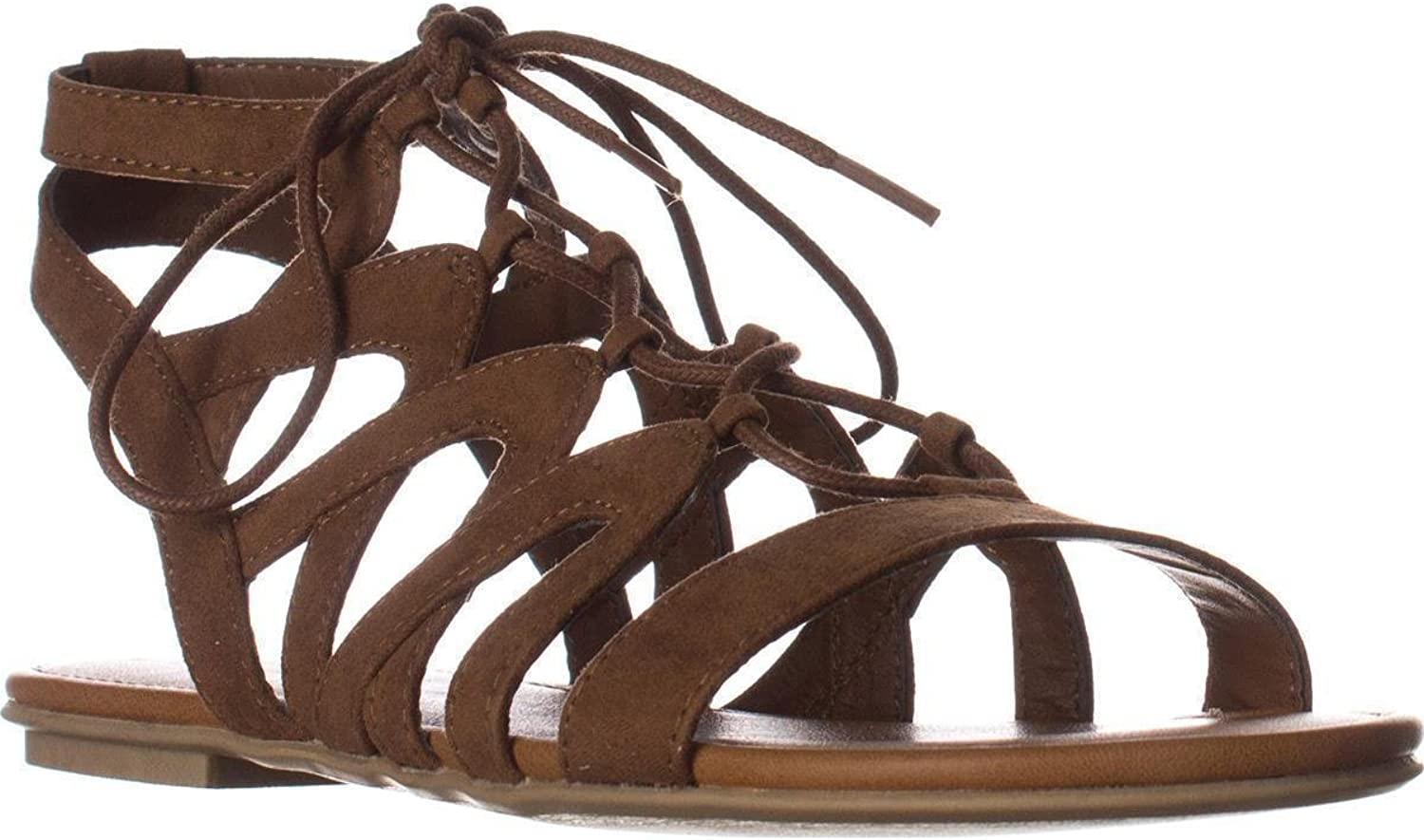 American Rag Womens Marlie Open Toe Casual Gladiator Sandals, Maple, Size 9.5