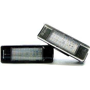 2 x LED Kennzeichen-beleuchtung Lampe Nummernschild-Leuchte Xenon