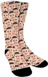 Calcetines Personalizados Con Fotos,Caras múltiples,Ponga Su Cara En Calcetines Para Hombres, Mujeres