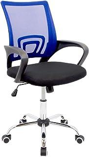 CashOffice - Silla de Escritorio Ergonómica Silla de Oficina Giratoria con Respaldo Transpirable (Azul)