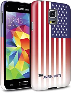 Personalized Custom National Nation Flag 3 Gloss Case for Samsung Galaxy S5 Mini/United States/American Design/Initial/Name/Text DIY Snap-On Cover