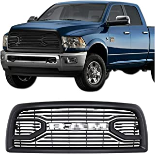 CD-Parts Front Grill for Dodge RAM 2500 2013-2018 Upper Bumper Grille Matte Black Big Horn Style with Letters