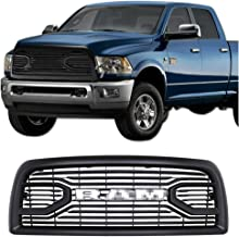 CD-Parts Front Grill for Dodge RAM 2500 3500 2013-2018 Upper Bumper Grille Matte Black Big Horn Style with Letters