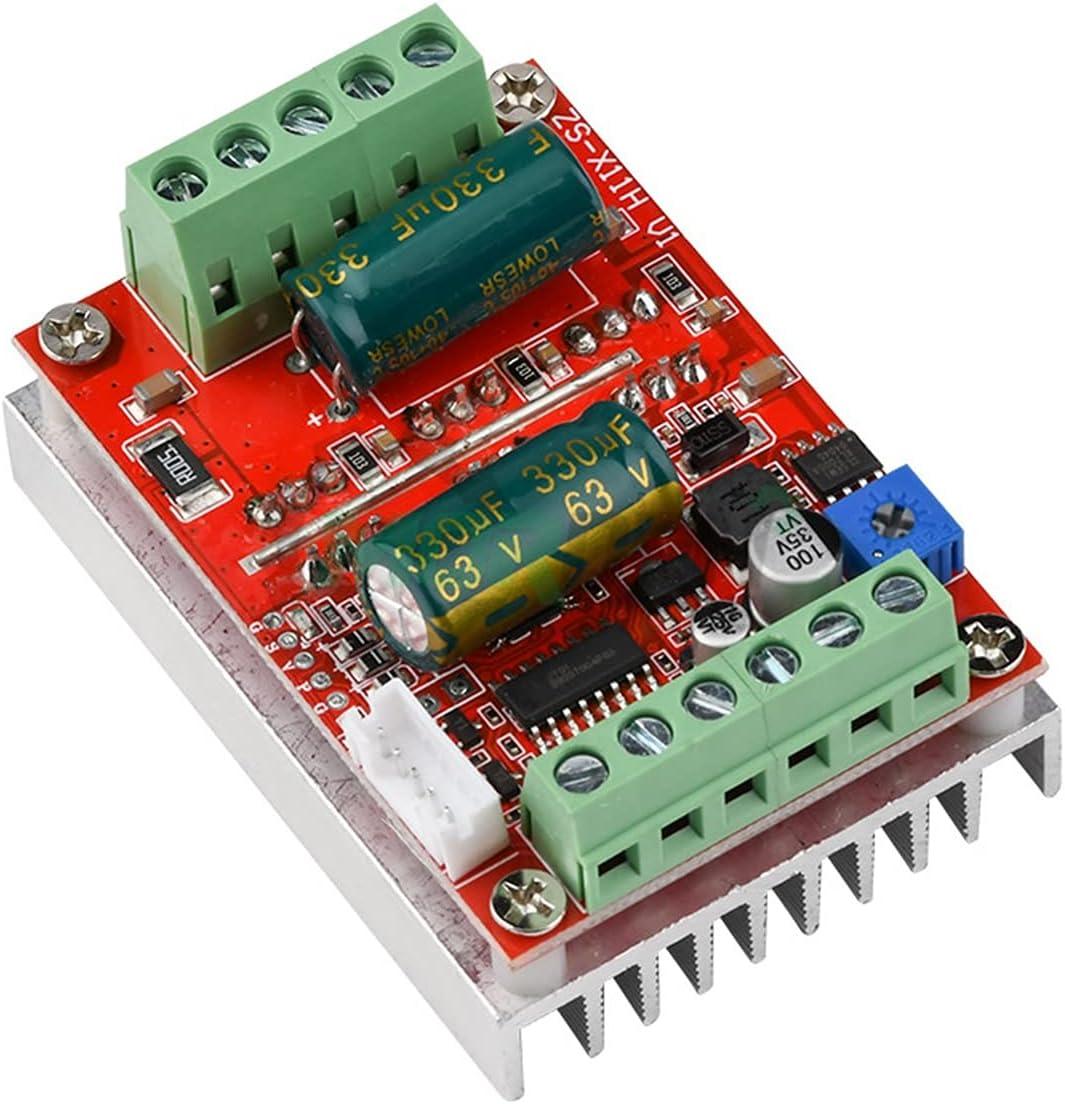 YSNUK Controlador de Velocidad DC 6-60V 400W BLDC Tres Fases Corriente Continua Controlador de Motor sin escobillas PWM Tablero de Conductor Sala de Control del Motor 1 2V 24V 48V