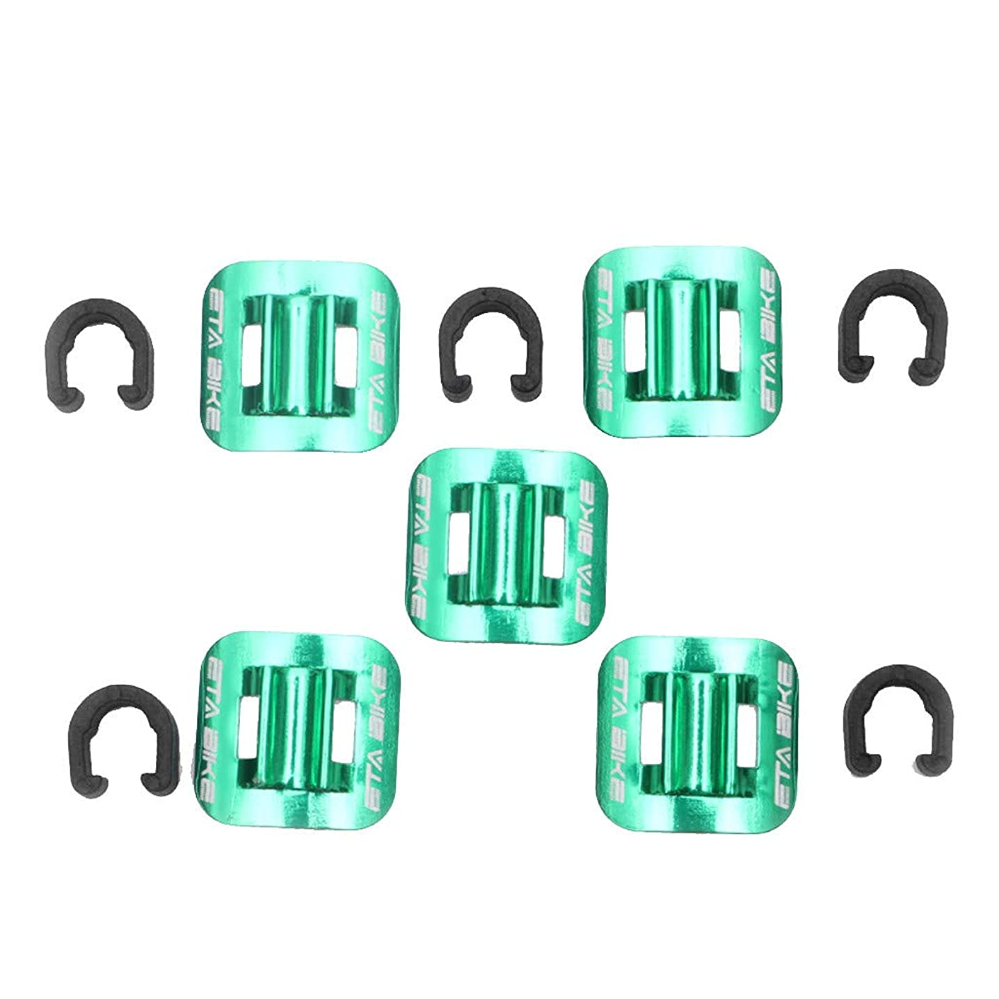?? Orcbee ?? _5Pcs Bicycle Brake Cable Fixed Clamp Conversion Seat MTB Bike Oil Tube Frame
