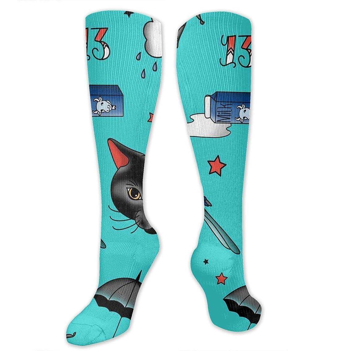 蘇生する誘う下に靴下,ストッキング,野生のジョーカー,実際,秋の本質,冬必須,サマーウェア&RBXAA Tattoo Hard Luck Socks Women's Winter Cotton Long Tube Socks Cotton Solid & Patterned Dress Socks