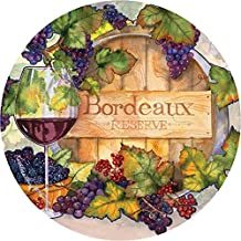 Thirstystone Stoneware Coaster Set, Bordeaux