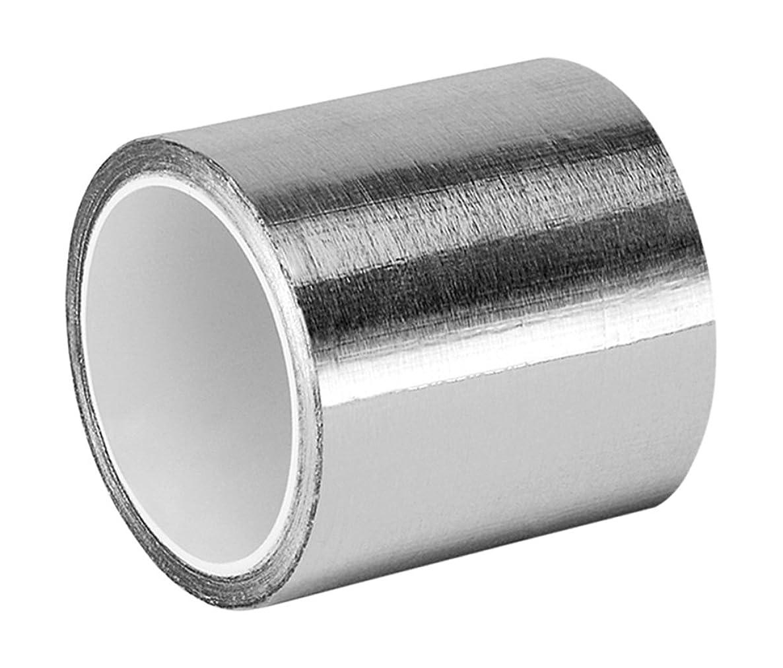 3M 427 Shiny Silver Aluminum/Acrylic Adhesive Tape Linered Aluminum Foil Tape, 6