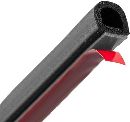 Gummidichtung selbstklebend Schwarz in 6 Gr/össen /& 2 Formen Rechteckig oder Rund zum ausw/ählen 10x3mm, Rechteckig