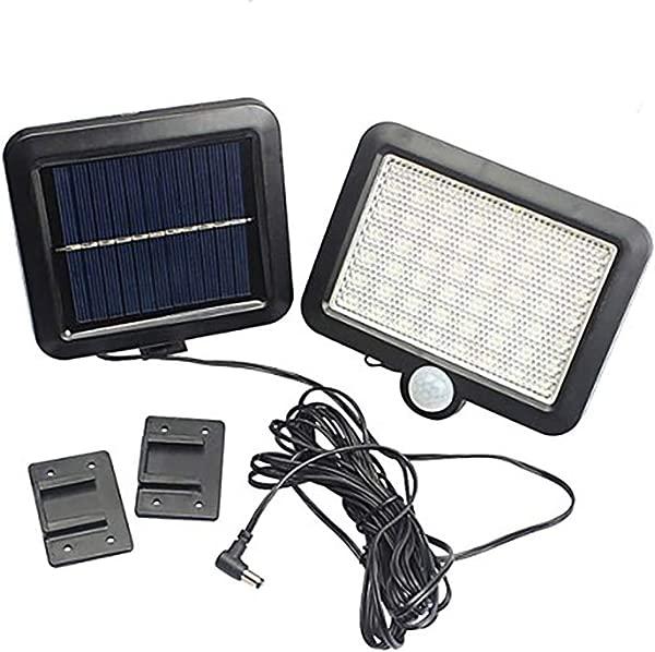 AOZBZ Solar Power Wall Light Outdoor Motion Sensor Light 56 LEDs Securtiy Night Light Separable Solar Panel Light For Patio Yard Deck Garage Driveway Porch Fence