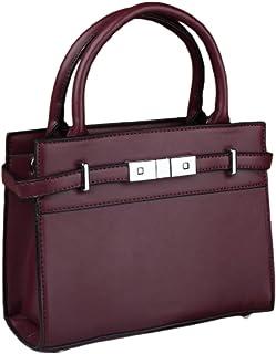 حقيبة للنساء-احمر انبيذي - حقائب الكتف