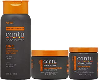 Cantu Men's Hair Care 3-piece Set (3 in 1 /Leave-In Conditioner /Cream Pomade)